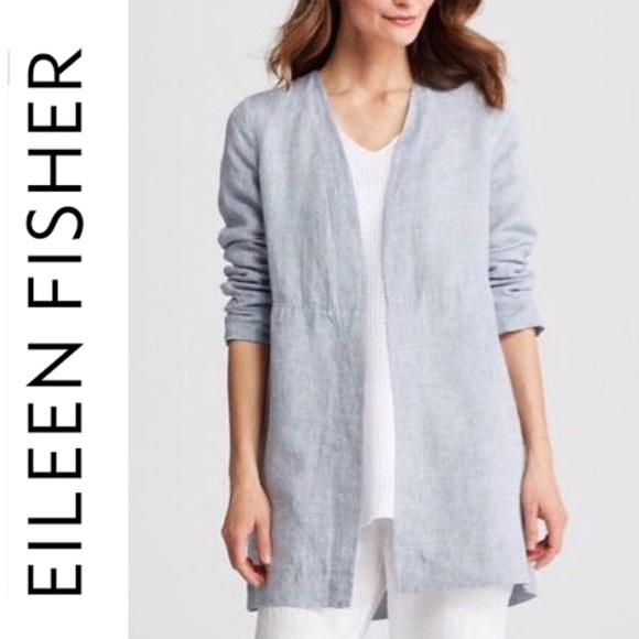6f64b542cc8a Eileen Fisher Jackets & Coats | Nwtstunningchambray Jacket | Poshmark